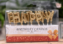 Happy Birthday canldes Happy Birthday Shape candle Birthday Cake candle