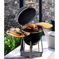 Wholesale 21 Inches Vertical Camping Ceramic BBQ Smoker BBQ Grill
