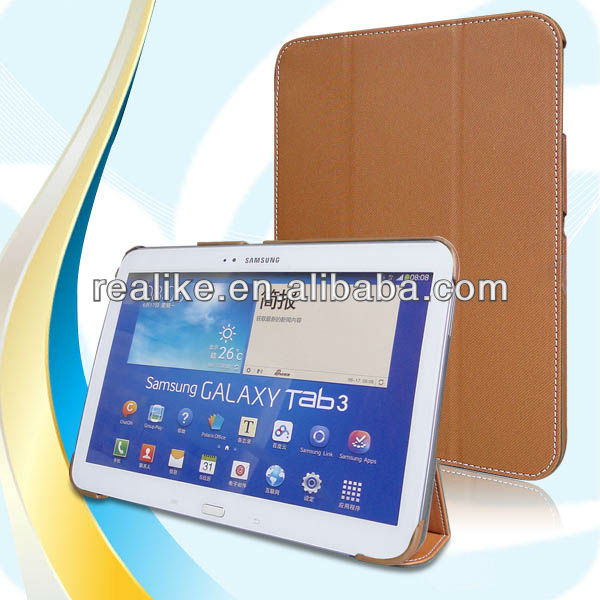 Book cover case for galaxy tab 3 10.1 case,stand leather case for samsung galaxy tab 3 P5200