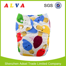 Alvababy Christmas Pattern Free Shipping Reusable Baby Cloth Diapers