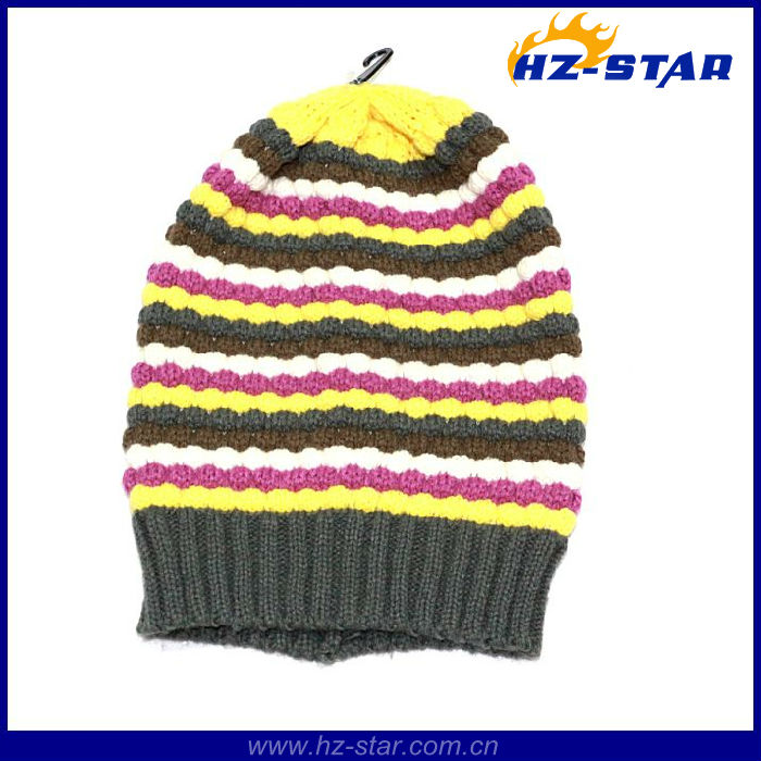 HZM-13802 2017 fashion hign quality soccer team knitted football fan hats