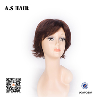 Grade 7A Wholesale Short Bob Wavy Hair Synthetic Full Lace Front Human Synthetic Hair Wig