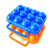 Small MOQ good quality 12pcs egg mold box/egg case with tray in egg tray