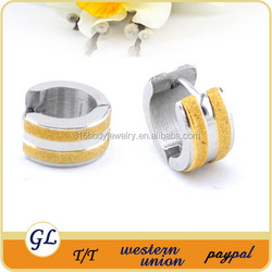 New arrival hot sale fashion double gold line earrings 316 stainless steel jewelry