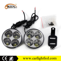 4W 12V Emark quality assured ece r87 auto led daytime running light led daylight round drl led lamp with e4