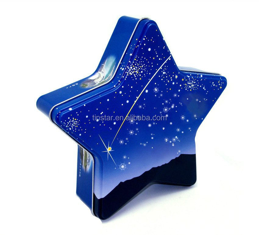 Lovely star shape gift tin box