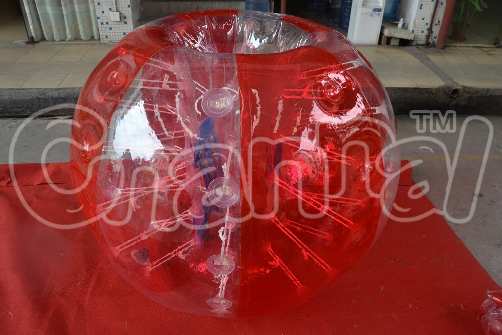 2016 Factory direct sales Wholesales tpu inflatable knocker ball suits hedstrom ball pit bubble ball for football