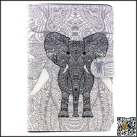New cartoon pattern for ipad mini back cover/PU leather smart case for ipad mini