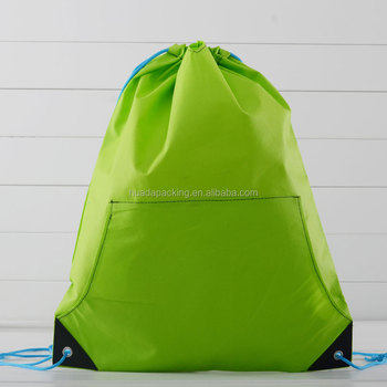 Custom made 190T nylon waterproof drawstring shoe bag