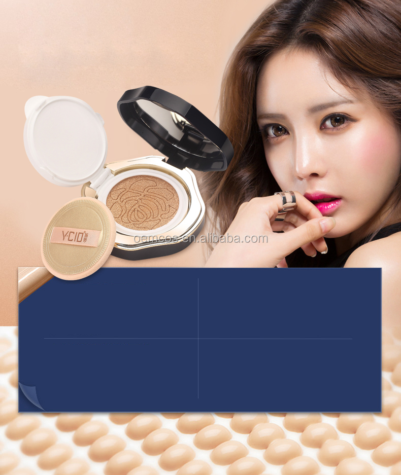 BB CC Moist Air Cushion Compact Korean Cover Foundation SPF50+ with 1 Extra Refill Luminous Glow Shade 21