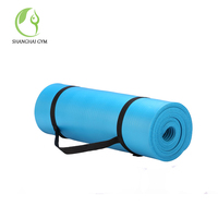 new design manufacturer nbr extra thick yoga mat with carrying strap