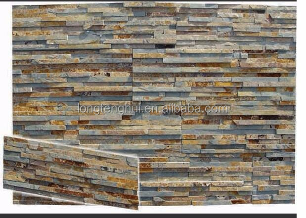 rustic slate natural stone exterior wall stone cladding