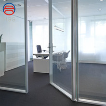 ISO CE certificate high quality folding or sliding interior tempered glass doors