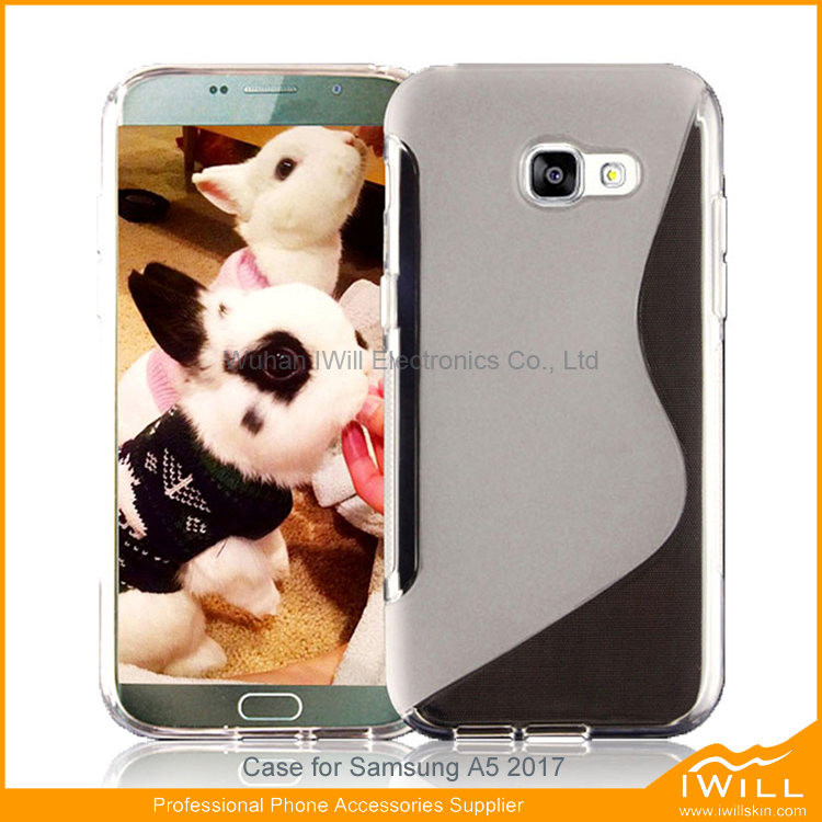For Samsung A5 2017 S line tpu case, cell phone accessories soft tpu back cover for samsung A5 2017