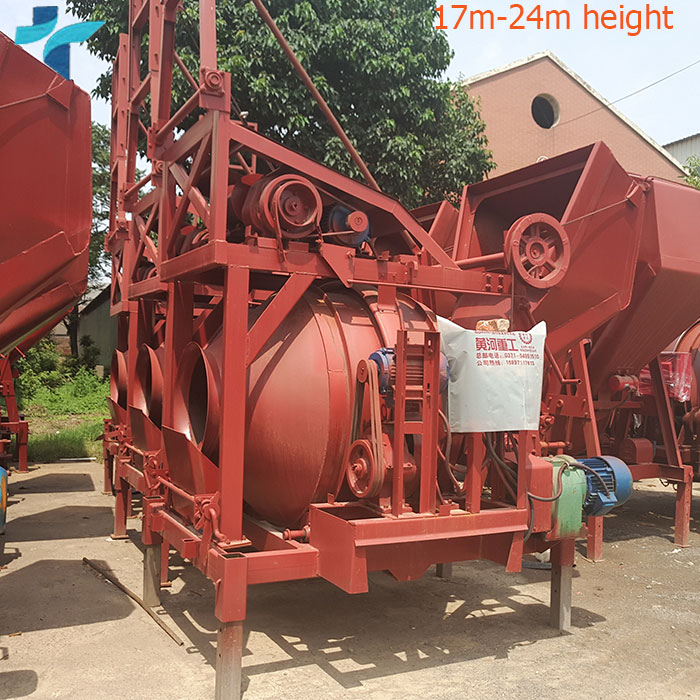 China Wheel Drum Height Cement Concrete Mixer With Ladder For Sale In Congo