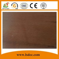 Red Woodgrain Pvc Sheet For Wall Decoration