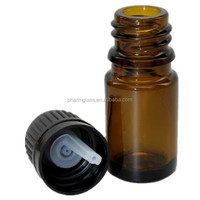 5 ml Amber Glass Essential Oil Bottle with European Dropper Cap