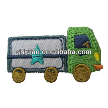 custom car embroidery badge for baby cloth