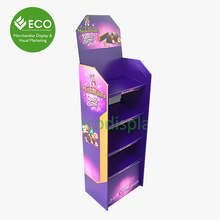3 Shelves Chocolate Corrugated Advertising Display Stands For Wholesale