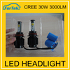 18 months warranty led headlight bulbs 12v 30w 9005 led car bulb