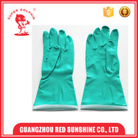 Green Nitrile safety industrial working gloves