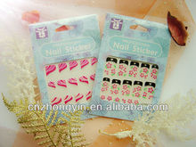 2013 Newest Colorful 3D Fench Nail Sticker, Nail stencil sticker