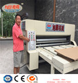 Chain feeder Feeding automatic Printing and Slotting and Diecutting Machine rigid box paper pizza box making