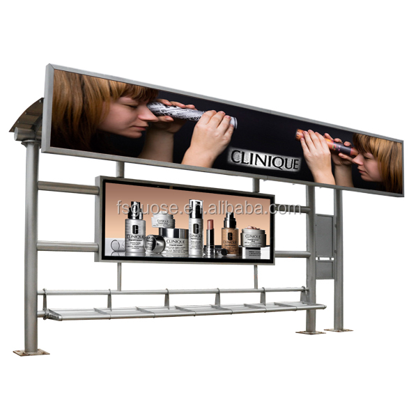 super light bike frame digital picture frame outdoor advertising road sign bus shelter