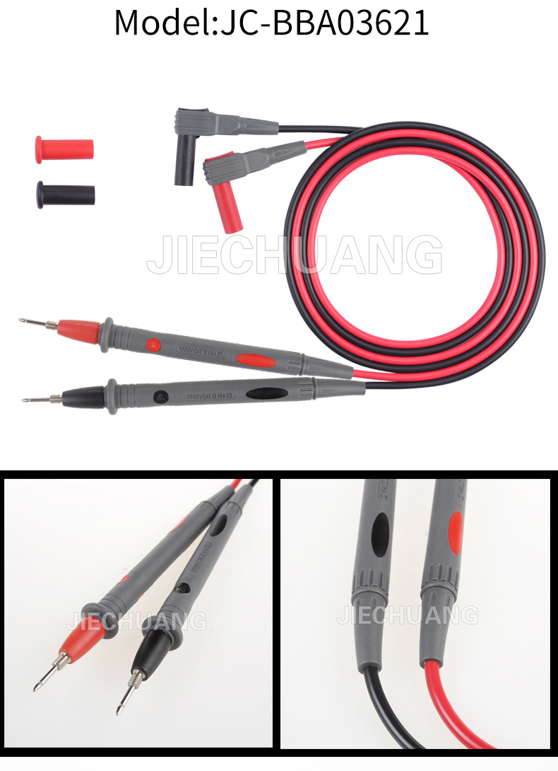 New 3.6mm safety lead with high quality M4 copper test tip multimeter test leads