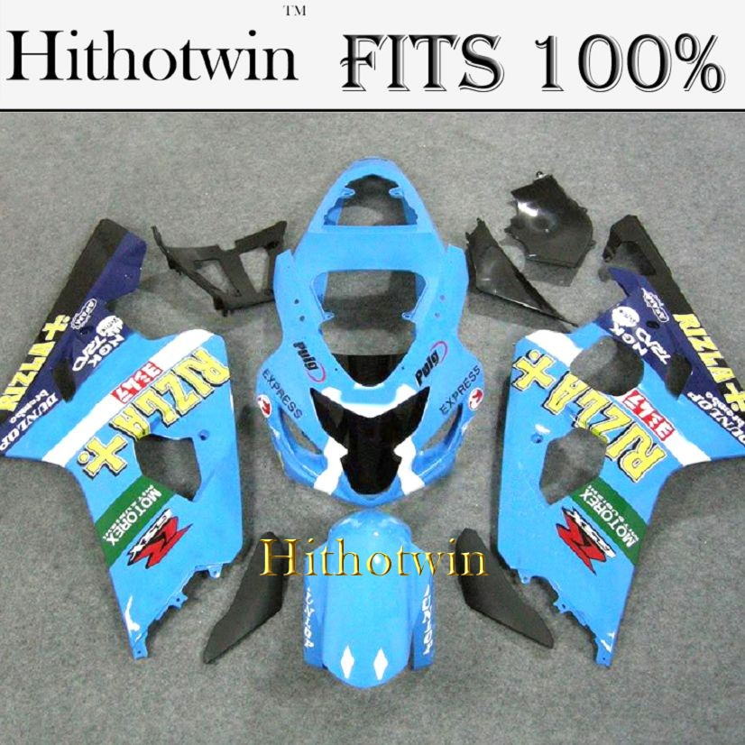 INJECTION MOLDING Fairing For Suzuki K4 GSXR600 GSXR750 2004 2005 motorex blue ABS Plastic Fairing Bodywork Set Kit 3
