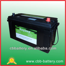 Durable and reliable maintenance free battery 12V100AH Japanese automobile battery