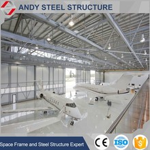 Low Cost steel Building Steel Grid Frame Arch Hangar Warehouse