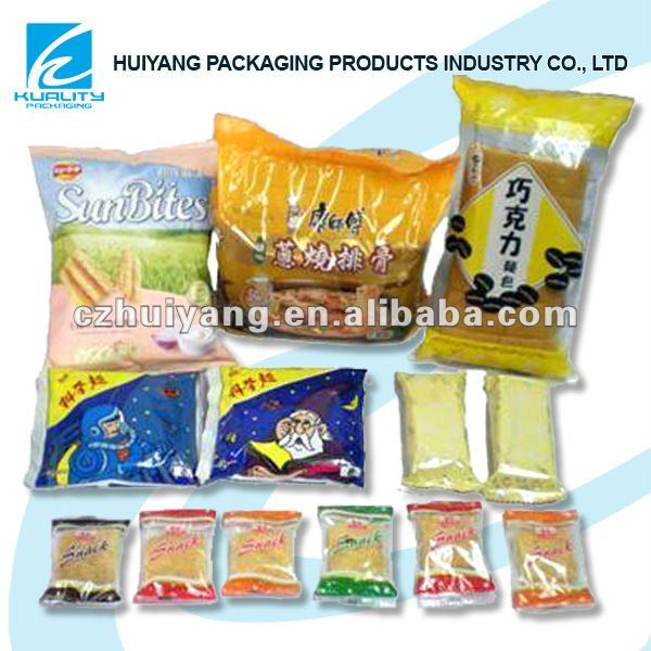 Mutiple plastic dried food packaging bags for instant products