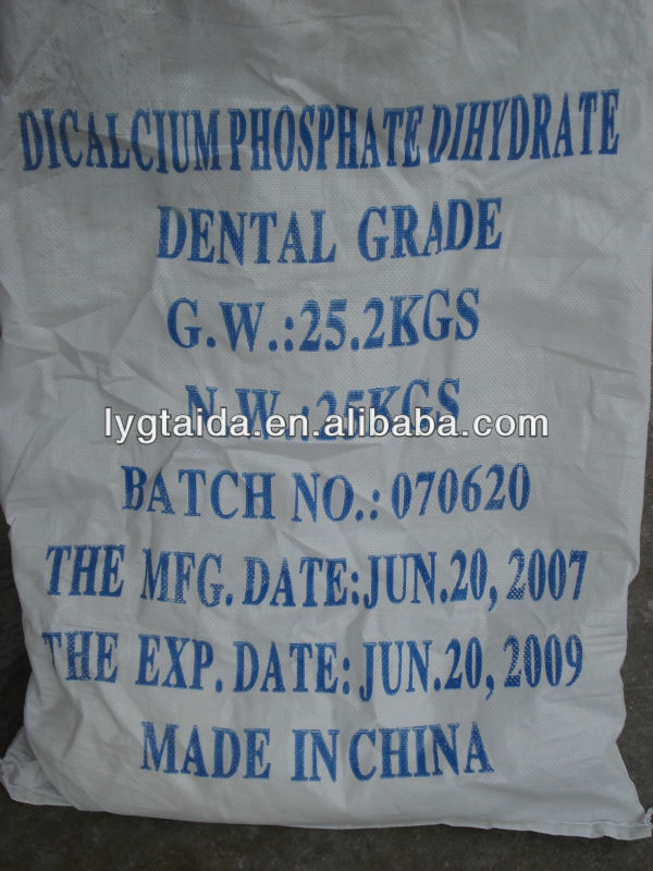 Dicalcium Phosphate Dental Grade As Friction Agent