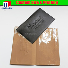 Chinese Factory cheap folding plastic business card holder with texture