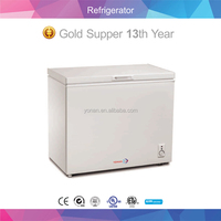 Single Door Chest Freezer Stainless Steel