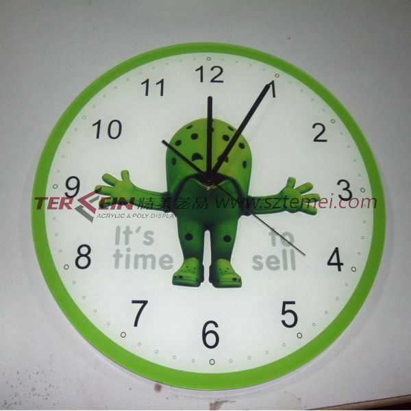 customized acrylic wall clock