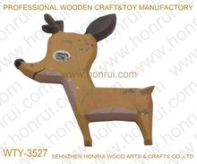 High quality hand carved wooden animal doll
