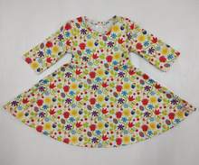 High quality bulk wholesale kids clothing Easter egg and flower fancy dresses for baby girl