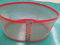 PTFE coated fiberglass open mesh conveyor belt/with edges binding and joints fixed/2*2.5mm