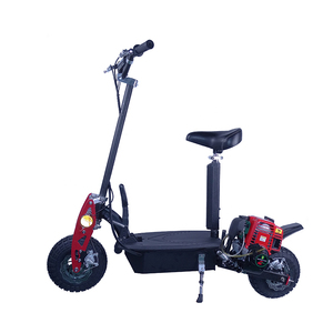 High quality air-cooled two-stroke 1.5L fuel tank folding adult 49cc cheap gas scooter for sale