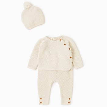 China Manufacturer knitted 100% cotton infant baby clothing sets