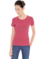 Cheaper basics blank cotton women t-shirt
