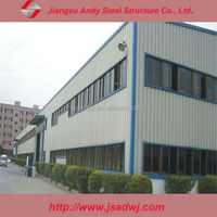 Industrial steel structure frame factory design