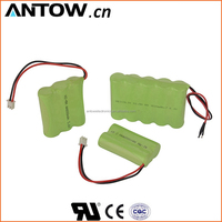 High performance SGS, UL approved 4.8v 1300mah ni-mh aa battery pack for solar light