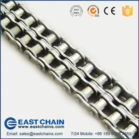 ANSI Standard duplex pitch 12.7mm 304 stainless steel roller chain 40SS-2
