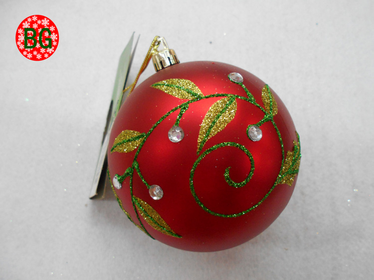 high quality painted Christmas ball trinkets for European festival decoration