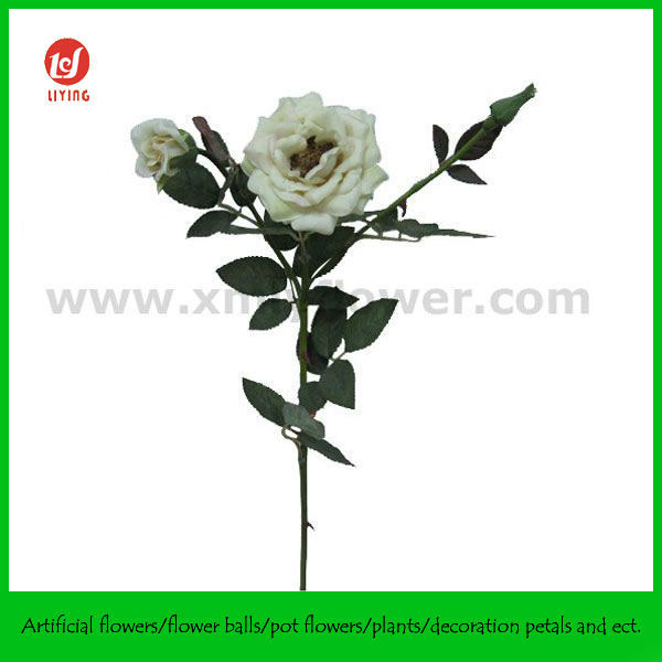 Artificial Flowers and Foliages of Rose Bush