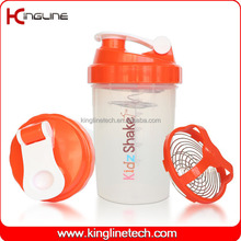 500ml plastic protein shaker bottle with mixer ball (KL-7006)