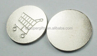 Custom embossed shopping trolley token coins